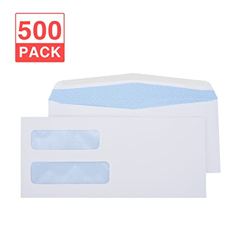 amazon com acko 9 500 pack 4 x 9 double window envelope check