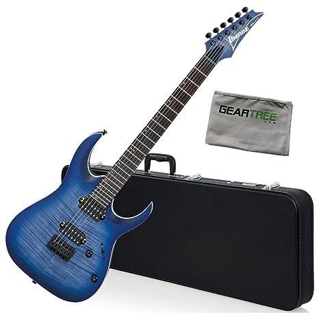 Ibanez rga42fmblf RGA estándar guitarra eléctrica – azul Burst soporte de W/Carcasa rígida y