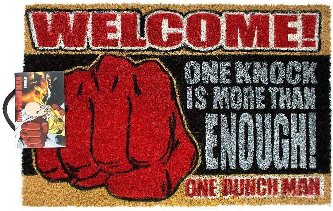 One Size Paillasson de Bienvenue Saitama One Knock Anime Officiel de One Punch Man