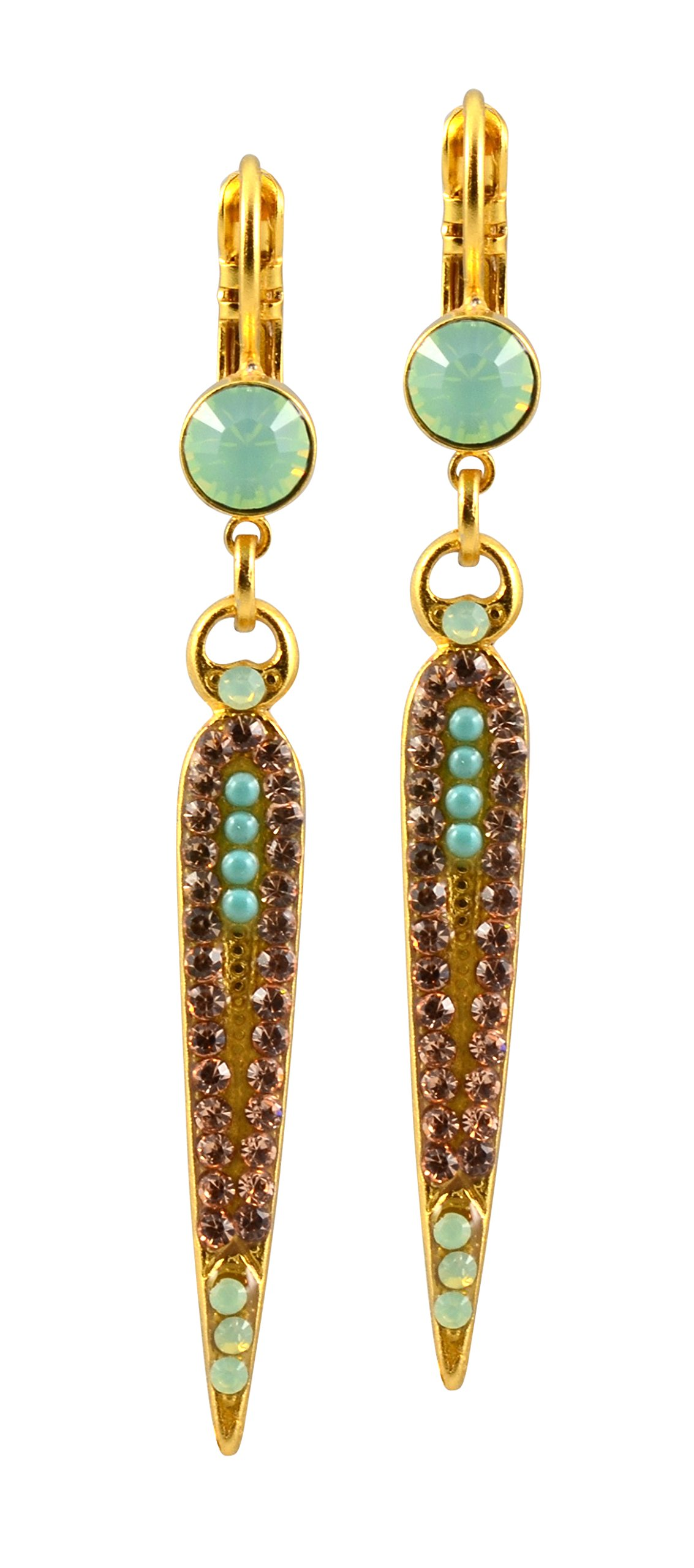 Mariana ''Summer Palace'' Gold Plated Crystal Art Deco Icicle Dagger Drop Earrings