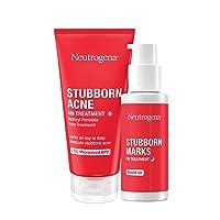 Neutrogena Stubborn Acne AM Face Treatment with Benzoyl Peroxide, 2.0 oz & Stubborn Marks PM Treatment with Retinol SA, 1 fl. oz