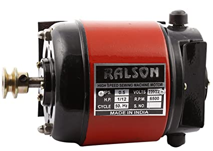 Ralson Sewing Machine Motor (50 Watts, Red and Black)
