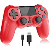 Wireless Controller for Playstation 4, Y-Team 1000mAh Controller for PS4 Game Gamepad Remote Joystick with Dual Vibration, Gy