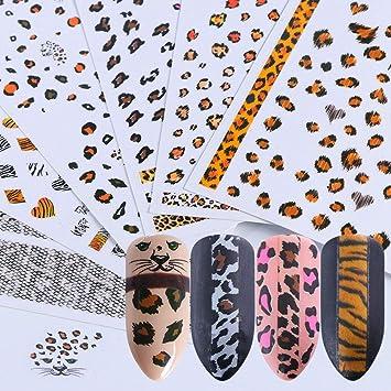 Amazon com: Lookathot 6 Sheets Nail Art Stickers Decals