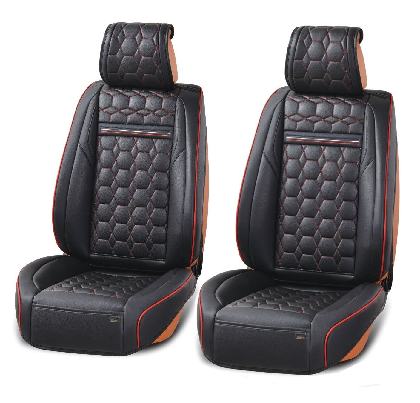 Deluxe Black PU Leather Front Seat Covers Cushion For Vauxhall