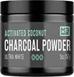 Premium Teeth Whitening Charcoal Powder - All Natural Coconut Activated Charcoal and Bentonite Clay - Highest Quality & 2X Value - Whitening Toothpaste