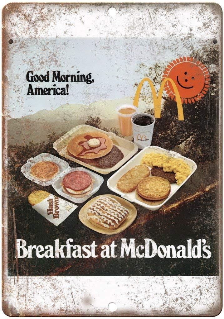 NOT Breakfast McDonalds Placa de Cartel de Chapa Vintage Retro ...