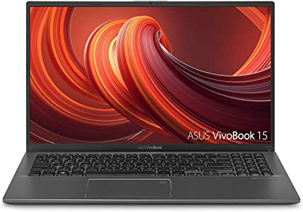 "ASUS VivoBook 15 Thin and Light Laptop, 15.6"" Full HD, AMD Dual-Core R3-3200U CPU, 4GB DDR4 RAM, 128GB SSD, AMD Radeon Vega 3 Graphics, Windows 10 Home S Mode, F512DA-WH31, Slate Gray"