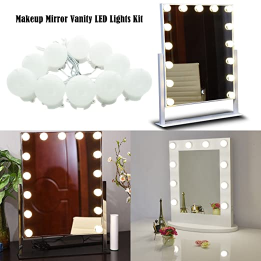 Hollywood Style Makeup Mirror Vanity Led Light Bulbs Kit For