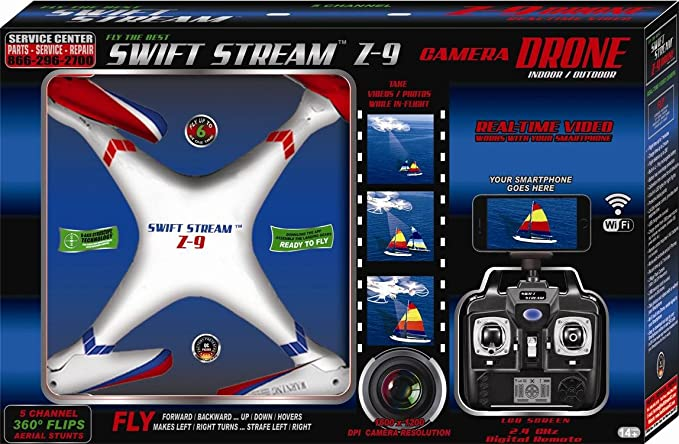 Amazoncom Swift Stream Z 9 Camera Drone Black Toys Games