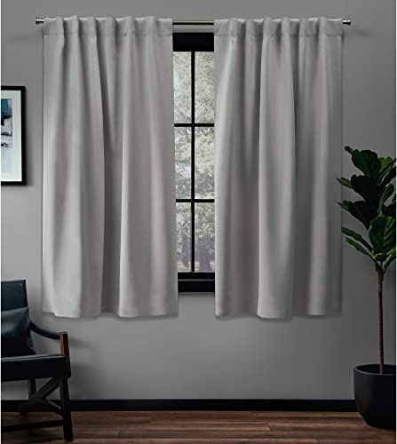 Exclusive Home Curtains EH8298-04 2-63H Sateen Twill Woven Blackout Hidden Tab Curtain Panel Pair