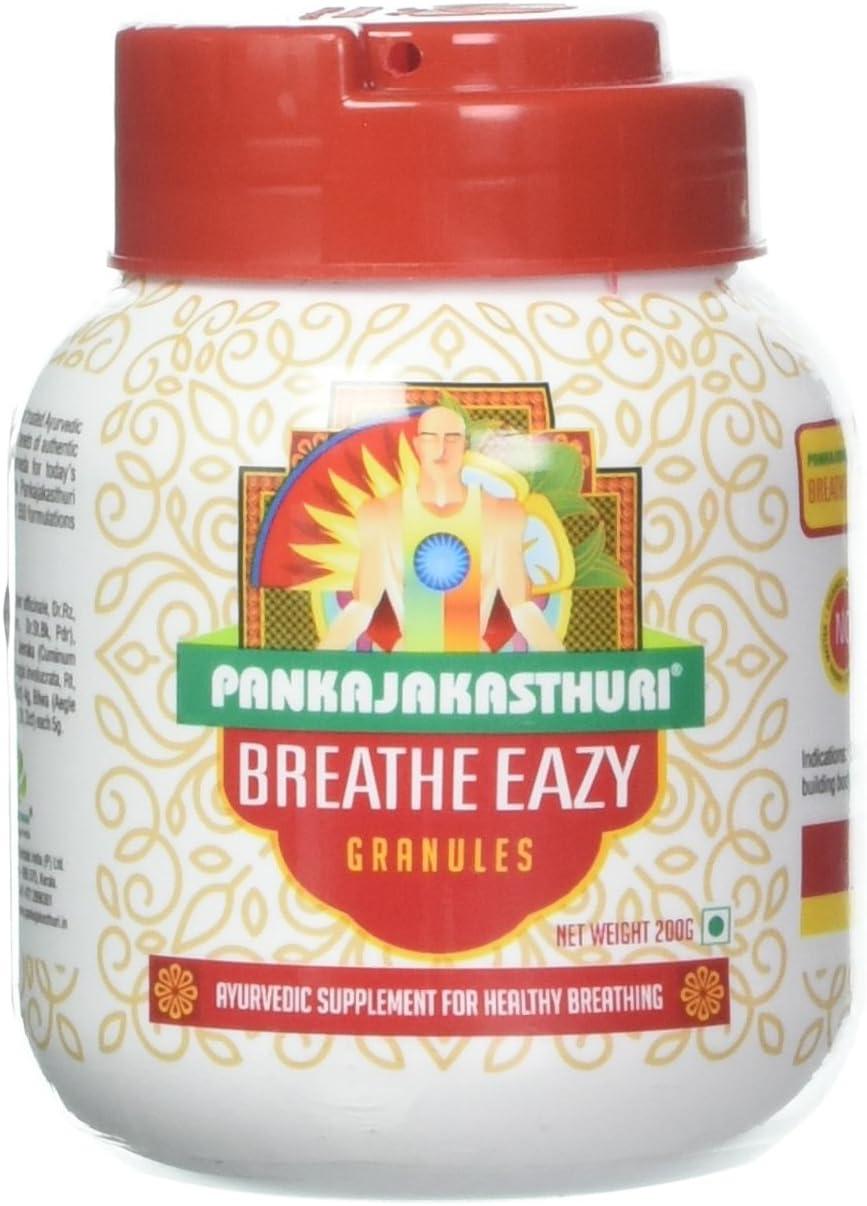 2 X Pankajakasthuri Breathe Eazy Granules Weezing, Asthma 200g X 2= Net.400g: Health & Personal Care