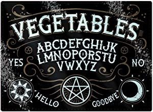 Grindstore Vegetables Ouija Glass Rectangular Chopping Board