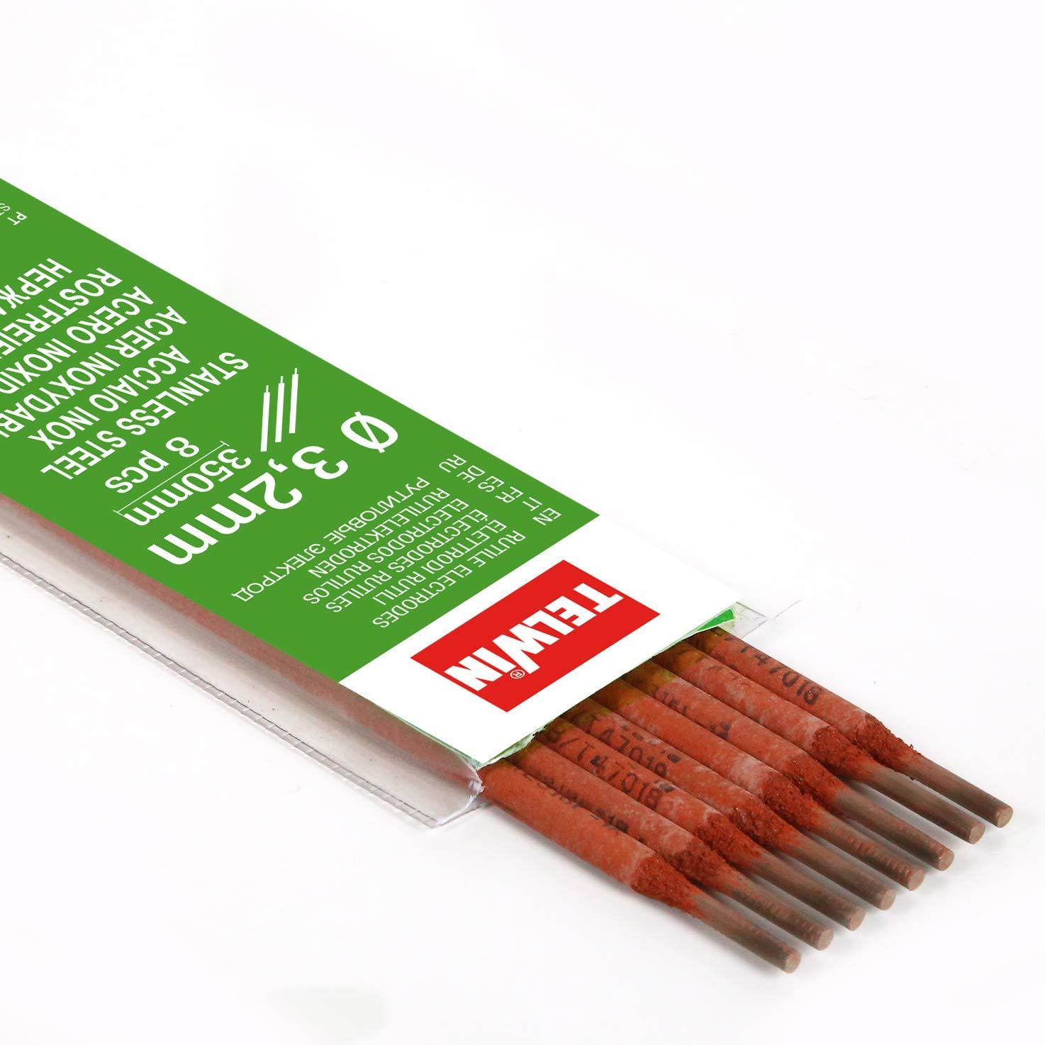 Telwin - Electrodos rutilos acero inox. kit 8 piezas Ø 3,2 ...
