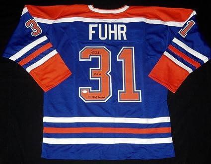 18522119e Signed Grant Fuhr Jersey - Custom W Proof Coa! - JSA Certified ...