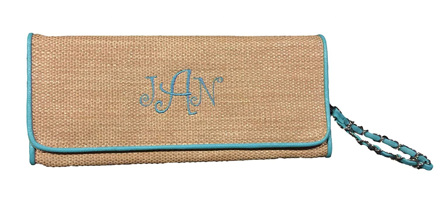 Straw Beach Clutch With...
