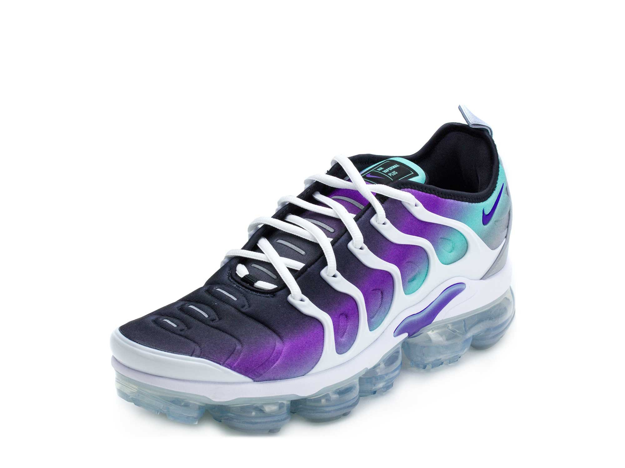 low priced 0e8c7 947f4 Nike Mens Air Vapormax Plus White/Purple Neoprene Size 11.5
