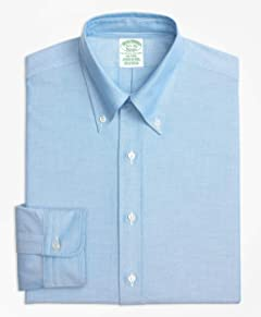 Brooks Brothers Button-Down Oxford Milano Fitted Dress Shirt