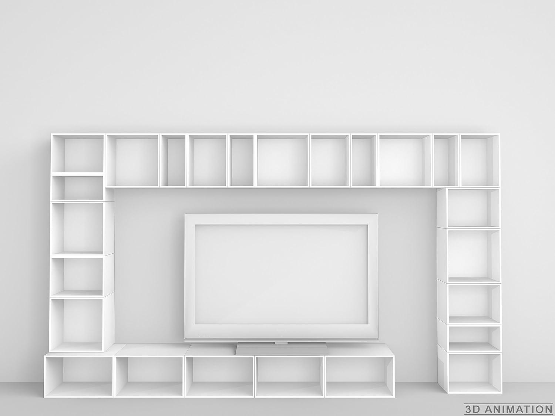Design Regal - TV-Möbel in weißer Lackierung