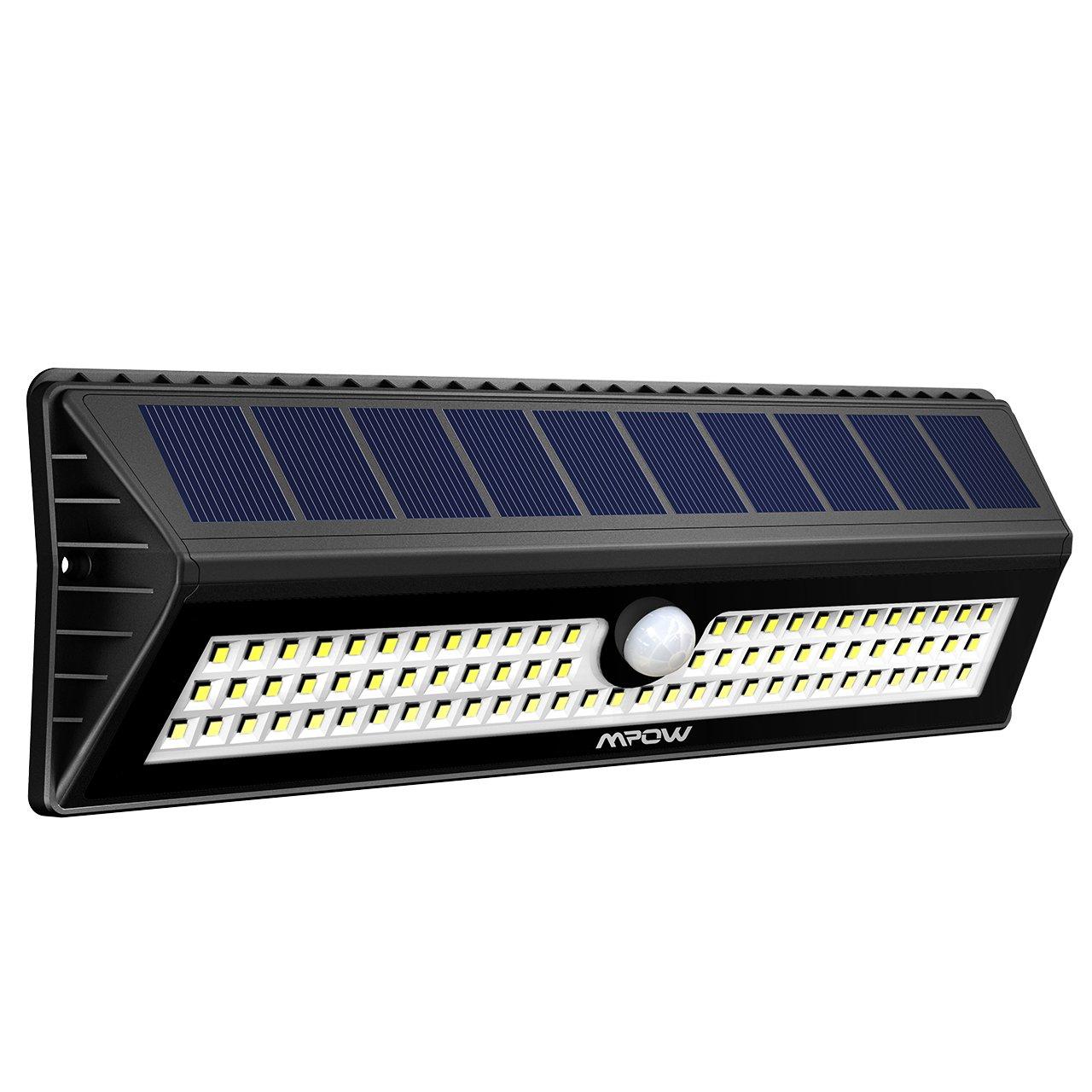 Mpow 77 LED Motion Sensor Solar Light, Bright Wall Light, 3 Optional  Lighting Modes