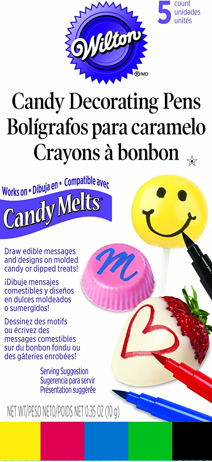 Wilton Candy Melt Writing Pen, Primary Color