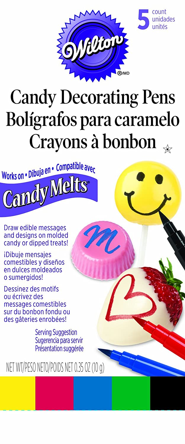 Primary Color Wilton 609-130 Candy Melt Writing Pen