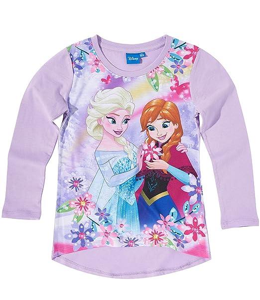 27e2f58e6 Disney El reino del hielo Chicas Camiseta mangas largas - malva - 140   Amazon.es  Ropa y accesorios