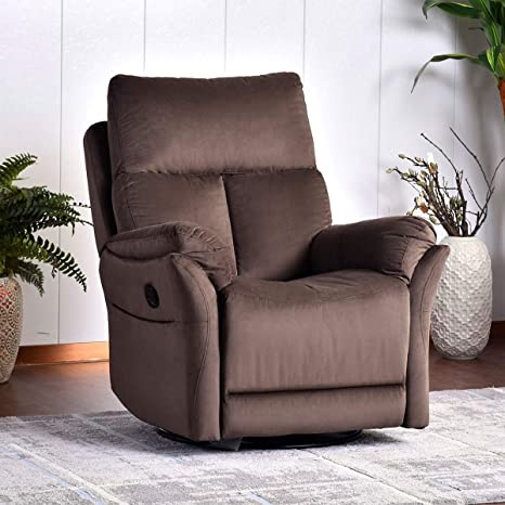 Pleasing Rocker Recliner Chair Soft Fabric Swivel Glider Recliner Seat Over Stuffed Manual Recliner Sofa For Living Room Home Theater Seating Ergonomic Dailytribune Chair Design For Home Dailytribuneorg