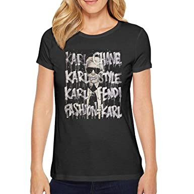 657623e5 Short Sleeve Tees O-Neck Cat-Lagerfeld- T-Shirt for Women at Amazon ...