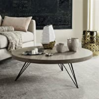 Overstock.com deals on Safavieh Mansel Light Grey / Black Coffee Table