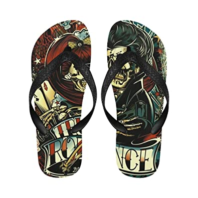 96aea6bcbc8a7 Love Nature Skull Art Custom Slim Tropical Sexy Sandals Many Colors Any  Size Flip Flops for