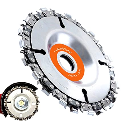 """4/"""" 22 Tooth Cut Grinder Disc and Chain Wood Carving For 100//115 Angle Grinder"""