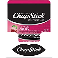 Chapstick Classic Lip Balm Skin Protectant Bulk, 12 Count, Cherry Flavor, 1 Count (Pack of 12)
