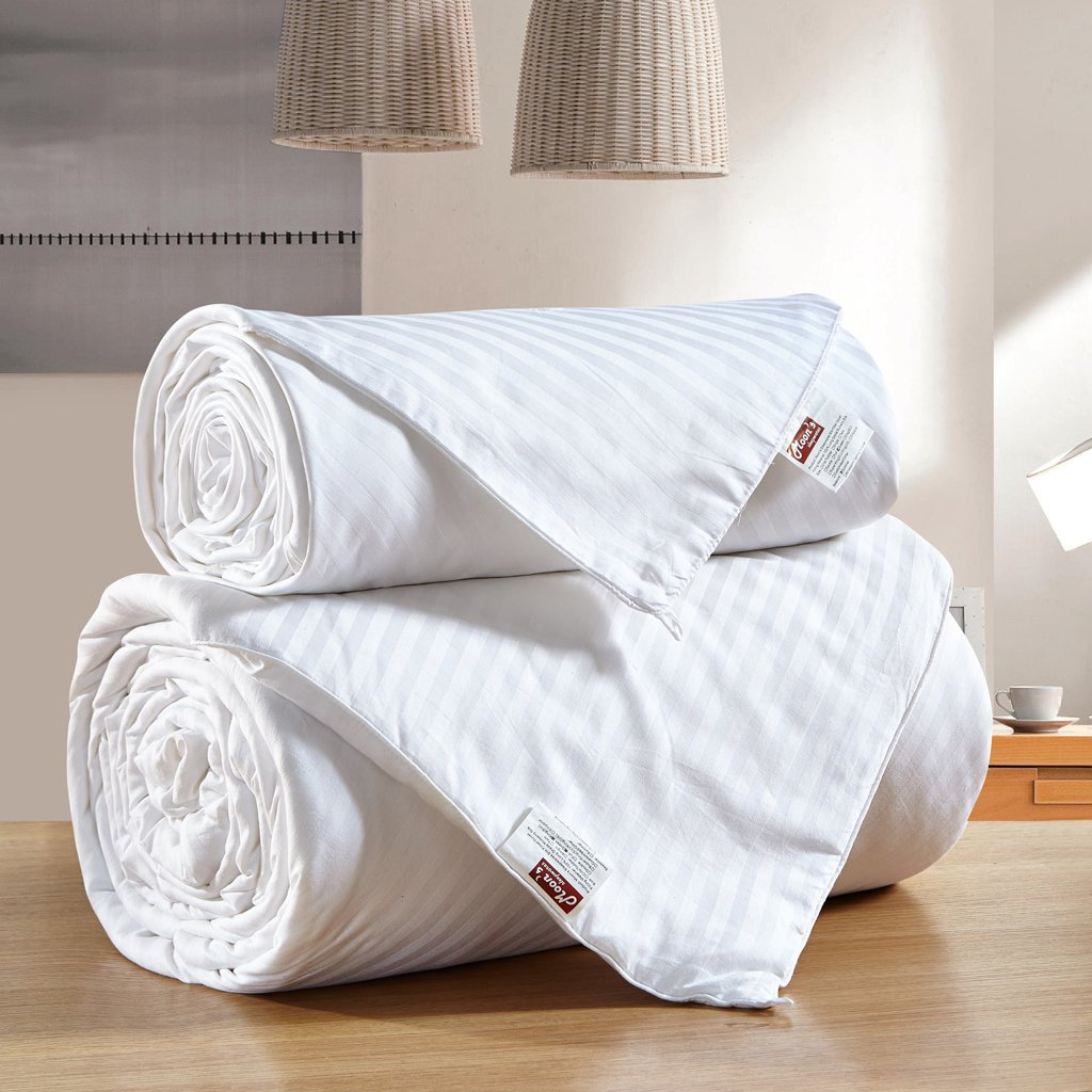 MOON'S SLEEPWARES King Size 100% Pure Long Grade Mulberry Silk Comforter Silk Filled Comforter Silk Quilt Silk Duvet (Combine Set) (86 X 102 Inches / 220 X 260 cm) SFDWH220x260-1+2