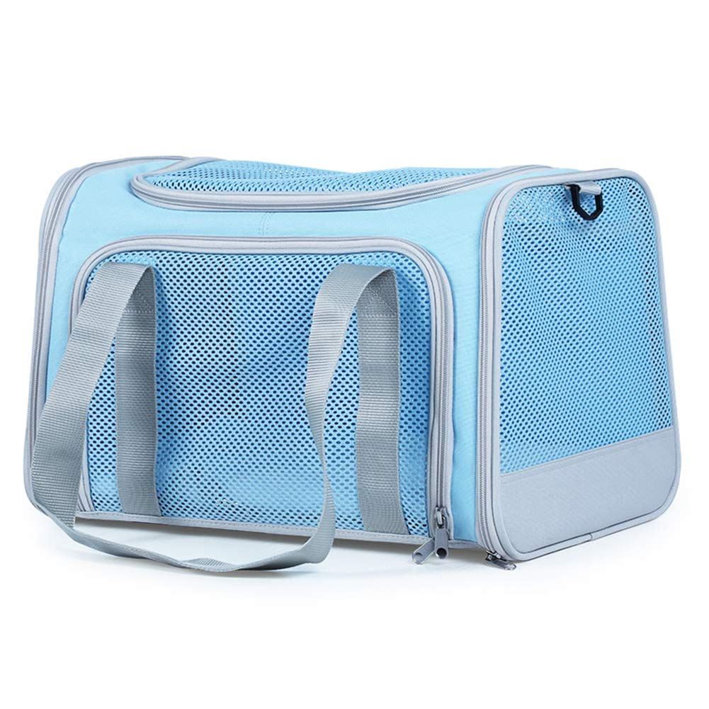bluee SGHH Pet Travel Bag Pet Carrier Portable Foldable Cat Dog Out Bag Lightweight Large Space With Breathable Mesh Pet Bag