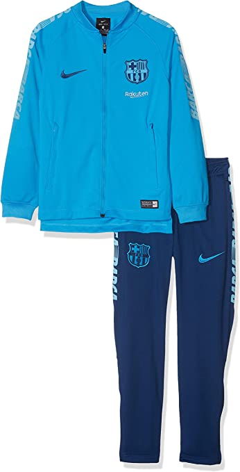 Nike FCB Y NK Dry SQD - Chándal, Unisex niños, Equator Blue/Vivid ...