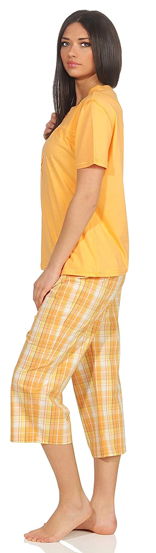 Seidensticker Schlafanzug Pyjama 3//4 blau
