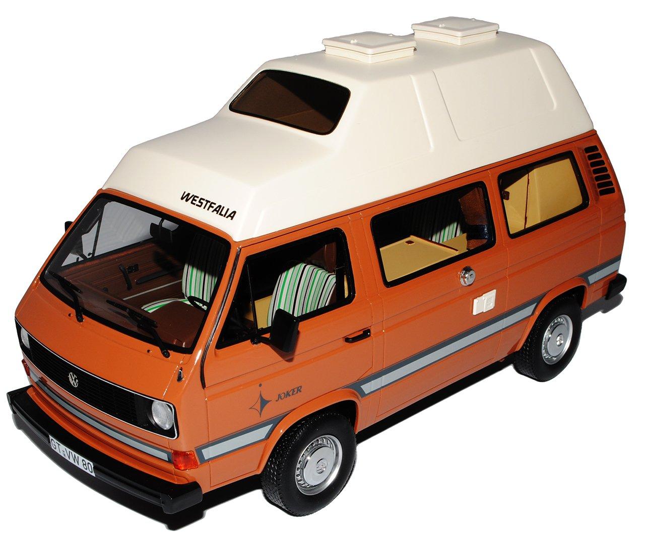 Premium ClassiXXs Volkwagen T3 a Westfalia Joker Transporter Braun 1979-1992 1/18 Modell Auto mit individiuellem Wunschkennzeichen