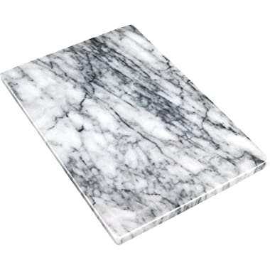 Greenco GRC0555 Pastry and Cutting Board 8 x 12 White Marble