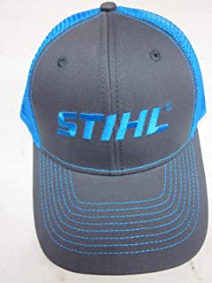 Stihl Officially Licensed Chainsaw Neon Mesh Back Cap Adjustable Snapback Truckers (Neon Blue)