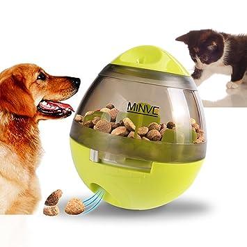 Pelota de comida para mascotas, de Minve, pelota de chuches para desarrollar el coeficiente intelectual: Amazon.es: Productos para mascotas
