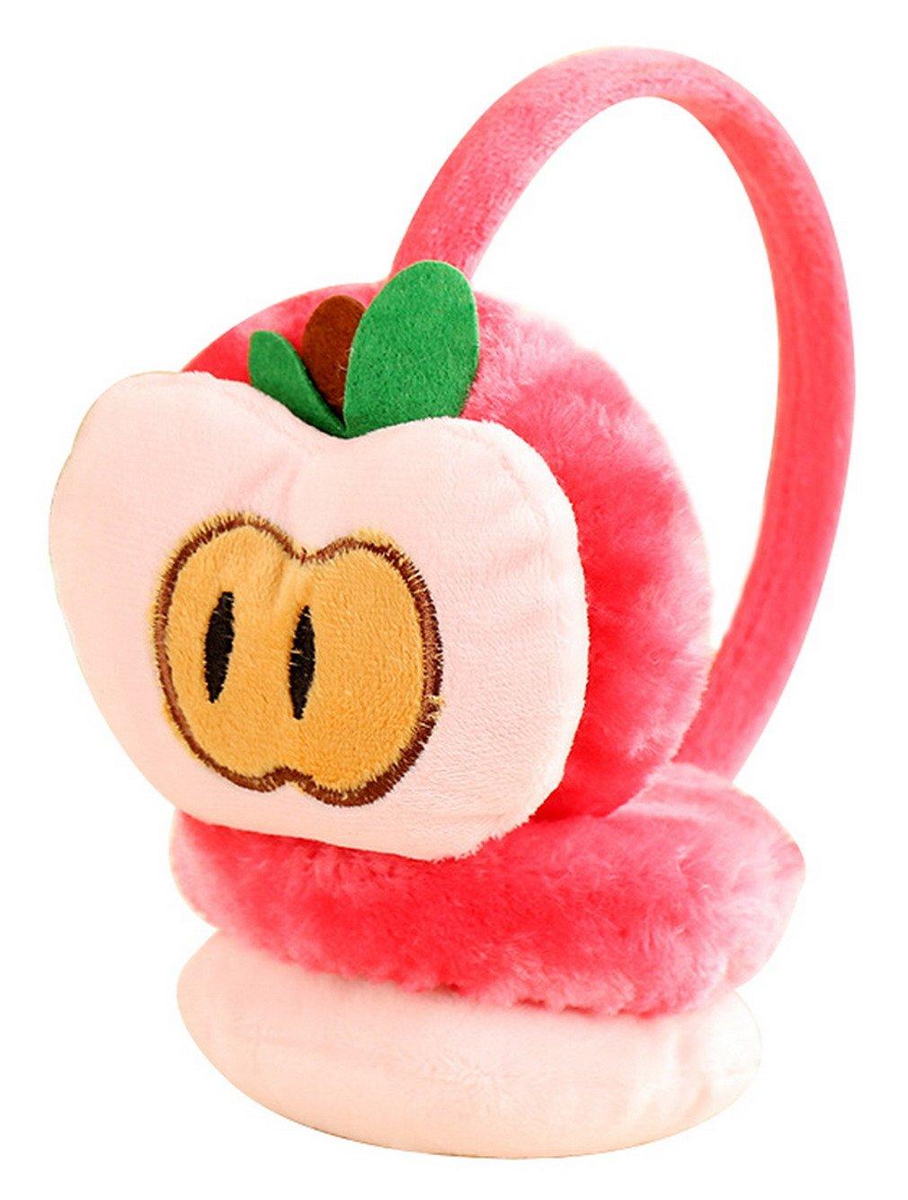 Lukis Cartoon Fruit Plush Ear Warmers Winter Earmuffs