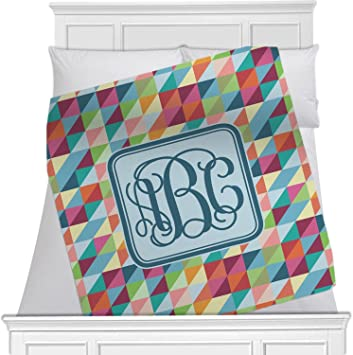 4ad623438248 Image Unavailable. Image not available for. Color: RNK Shops Retro  Triangles Fleece Blanket ...