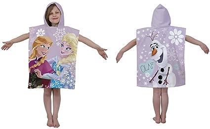 Film Disney La reine des neiges personnages Anna et Elsa Serviette Poncho à  capuche - 50 3165ce897540