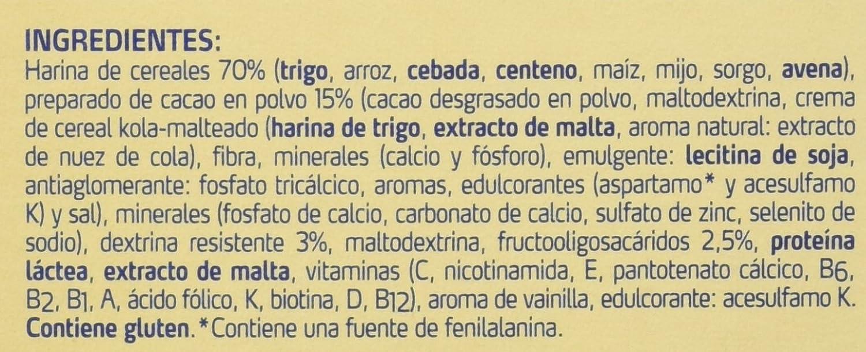 Fontactiv Cereales con Cacao Suplemento Nutricional - Paquete de 2 x 300 gr - Total: 600 gr: Amazon.es: Alimentación y bebidas