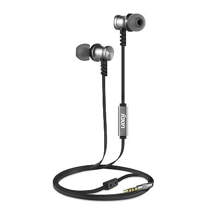 Foxin BASS PRO+ M1 Metallic in-Ear Wired Earphones (Grey)