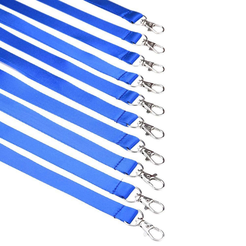 ZARRS Laccio da Collo Portabadge,30 Pack Cinghia in Poliestere Lanyard con Clip in Metallo per Carte dide