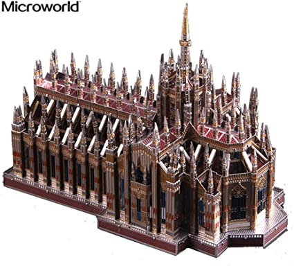 Microworld 3d Metal Puzzle Milan Cathedral Duomo Di Milano Model Kits J045 C Diy 3d Laser Cut Assemble Jigsaw Toys