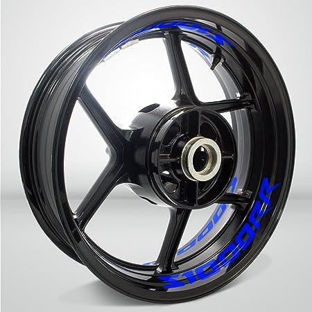 Stickman Vinyls Glänzend Blau Motorrad Inner Rim Tape Decal Aufkleber Kompatibel Mit Bmw S1000rr Auto