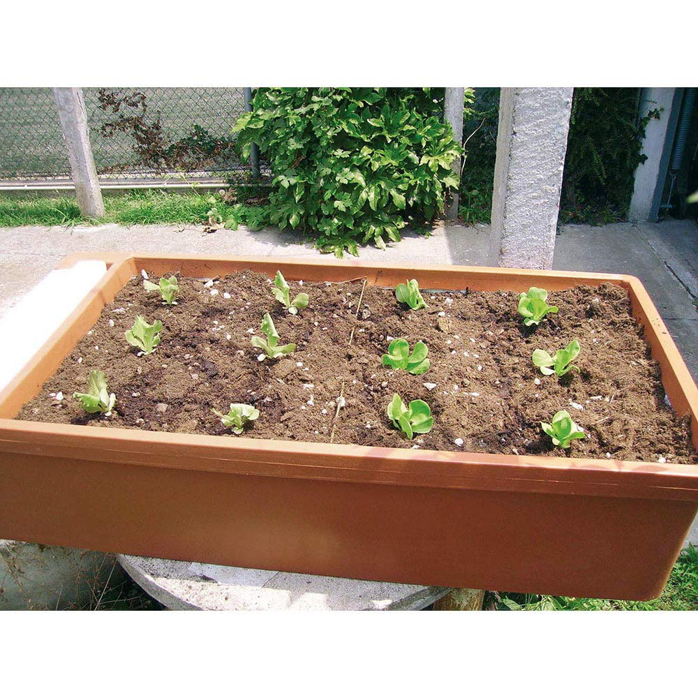 Jardinera Orto urbano de jardín 6l 58 x 115 x H28 cm rama ...